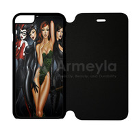 Poison Ivy Harley Quinn Batgirl And Catwoman Pose iPhone 6/6S Flip Case | armeyla.com