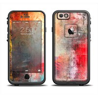 The Grungy Colorful Faded Paint Apple iPhone 6 LifeProof Fre Case Skin Set