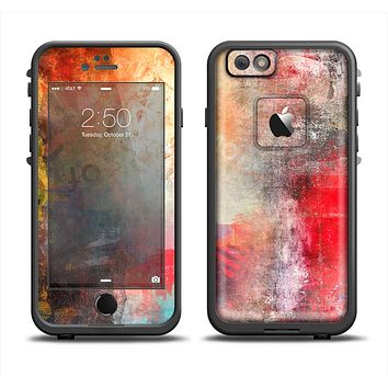 The Grungy Colorful Faded Paint Apple iPhone 6/6s LifeProof Fre Case Skin Set