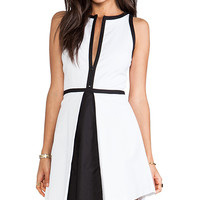 BB Dakota Derry Colorblock Palio Linen Dress in White