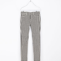 HOUNDSTOOTH PRINT TROUSERS - Trousers - TRF | ZARA United Kingdom