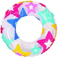 By PoolCentral 24 inch  Colorful Star Print Inflatable Swimming Pool Inner Tube Ring Float