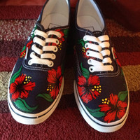 Hawaiian flowers shoes
