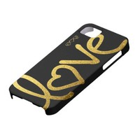 Black and Gold Love from Zazzle.com