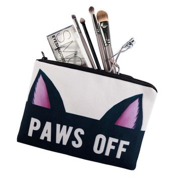 Doggie Paws Cosmetic Zipper Bag