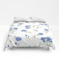 Forget me not II Comforters by Sagacious Design