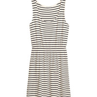 H&M - H&M+ Jersey Dress - Natural white/striped - Ladies