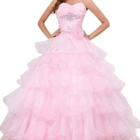 Sunvary Sweetheart Organza Ball Gown Prom Dress Quinceanera Dress Long AEL173
