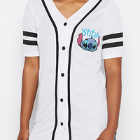 Stitch Striped Baseball Jersey