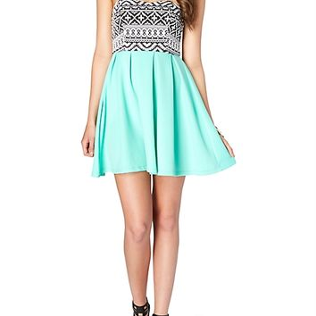 Aztec Sweetheart Tube Dress