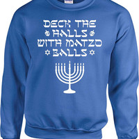 Funny Hanukkah Sweater Happy Hanukkah Holiday Hoodie Chanukah Gifts Jewish Clothing Judaica Star Of David Dreidel Israel Menorah - SA858