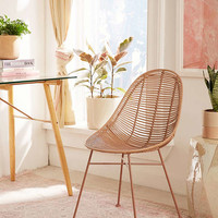 Haylee Mono Rattan Chair | Urban Outfitters