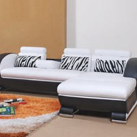 Small Sleek Leather Sectional - Opulentitems.com