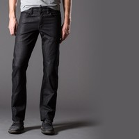 [Natural High] Straight Jeans In Carbon Black