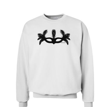 Masquerade Mask Silhouette Sweatshirt by TooLoud