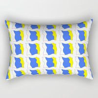 flag of canary islands-canaries,canary,atlantic,canarias,Canarian,canario,canaria,spain,spanish, Rectangular Pillow by oldking