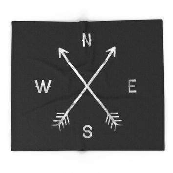 Society6 Compass Blanket