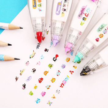 1pcs DIY Cute Cartoon Kawaii Colorful Correction Tape School Supplies Material For Kids Gift Korean Stationery 00202