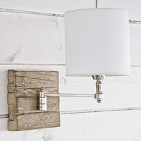 Reclaimed Wood Swing Arm Sconce
