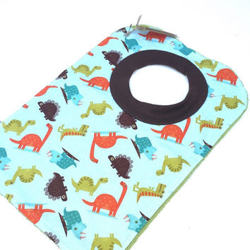 Bib with Dinosaurs - Toddler Bib for Boy - Animal Bib - Pullover Bib - Boys Baby Bib