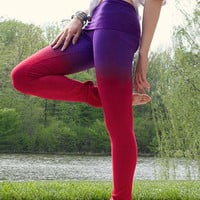 Red Ombre Long Skinny Stretchable Pants