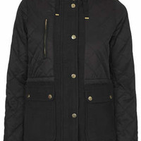 Lightweight Quilted Jacket - Black