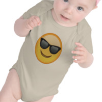 Smiling Face With Sunglasses Emoji Bodysuits