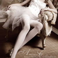 007 Hold Ups in Bianco (White) by Ballerina Hosiery