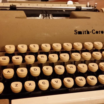 Vintage Tan Smith Corona Sterling Typewriter Great Writer's Artist Office Decor Item