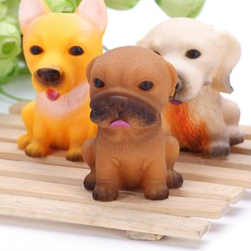 2pcs Fun dog Squeeze Stresses Reliever Toys Christmas Pug dogs rogue dog Antistress gifts