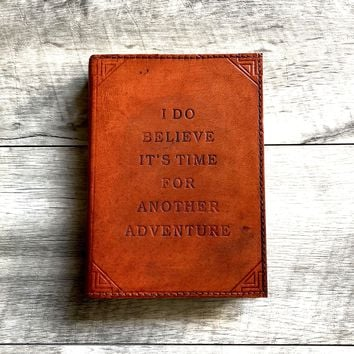 Refillable Another Adventure Handmade Leather Journal