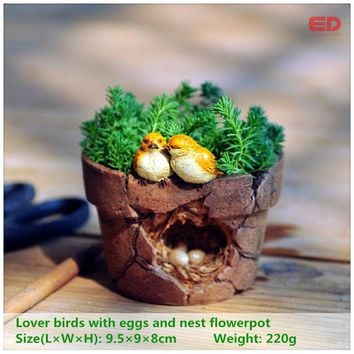 ED original quality design magic story garden ornament lover birds flowerpot bonsai outdoor decoration