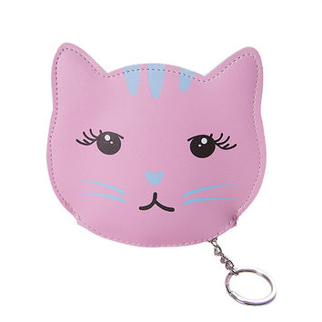 Animal Head Keychain Purse
