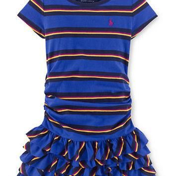 Ralph Lauren Childrenswear Girls 2-6x Striped Ruffle Dress