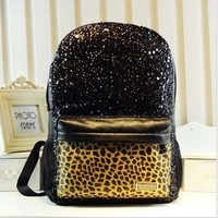 Cool Shiny Leopard Backpack Bag