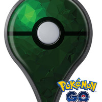 Abstract Green Geometric Shapes Pokémon GO Plus Vinyl Protective Decal Skin Kit