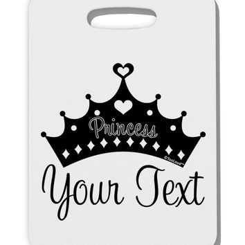 Personalized Princess -Name- Design Thick Plastic Luggage Tag