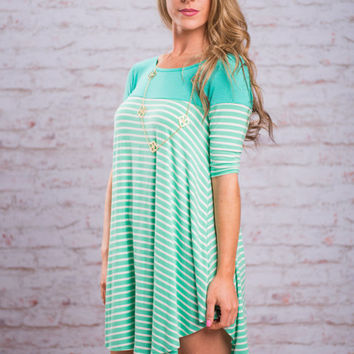 Casual Scene Dress, Mint