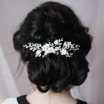 Mother of Pearl Bridal Hair Comb