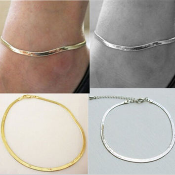 Gift New Arrival Sexy Jewelry Stylish Cute Shiny Chain Blade Necklace Ladies Anklet [6768753671]