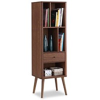 Mid-Century Modern Classic Bookcase Sideboard Cabinet
