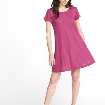 Linen-Blend Swing Dress for Women |old-navy