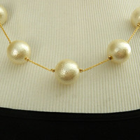 Textured Pearl Necklace