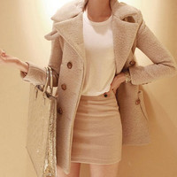 elegant trench coat for women, woolen winter jacket coat for women, casual warm women coat