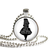 Alice In Wonderland Quote Necklace