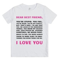 Dear Best Friend (Juniors)-Unisex White Youth T-Shirt