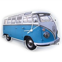 VW Bus Wall Clock - Classic Blue