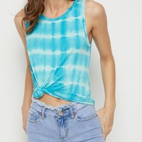 Light Blue Tie Dye Tank Top | Casual Tank Tops | rue21