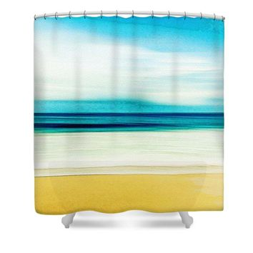 Sea You Soon Watercolor Art By Adam Asar - Asar Studios - Shower Curtain