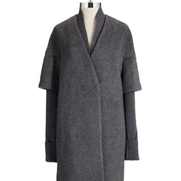 Elie Tahari Wool Louisa Coat